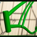 Bicycle frame powder coated candy sour apple