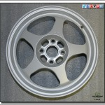 Powder coated aluminum rim