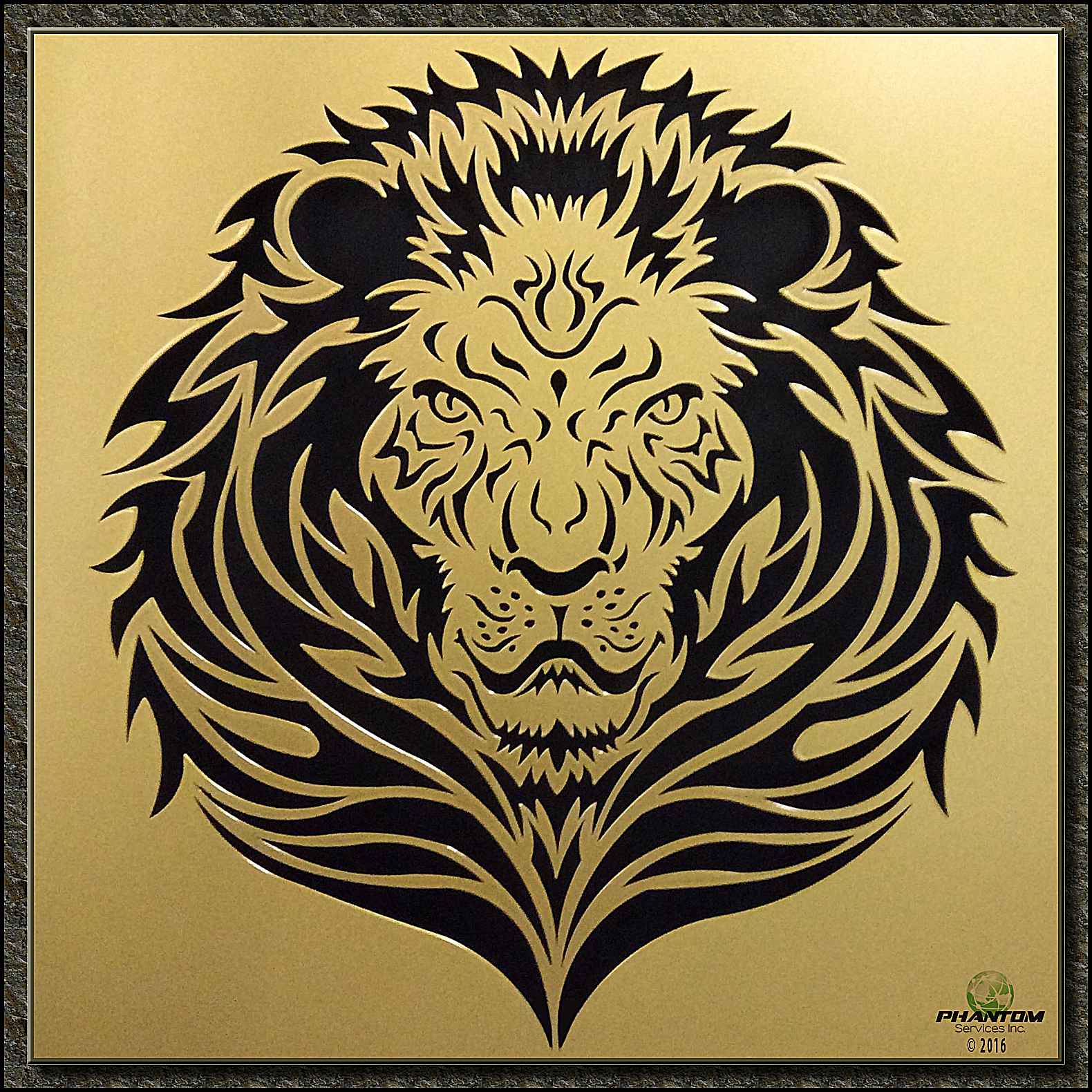 Lion Metal Wall Art By Laser Cutting Gives You Extreme Possibilities For Design Precision
